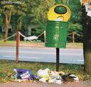 Śmietnik przy ulicy Warszawskiej.