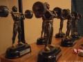 Statuetki, które otrzymali zwycięzcy. Fot. M. Godlewska