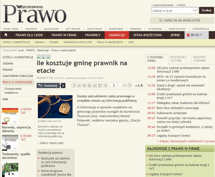 Rzeczpospolita, 14.01.2013