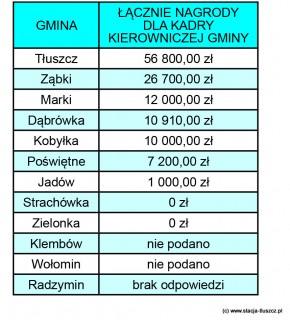 Nagrody w gminach powiatu wołomińskiego 2012, (Źródło: Biuro Poselskie Artura Dębskiego)