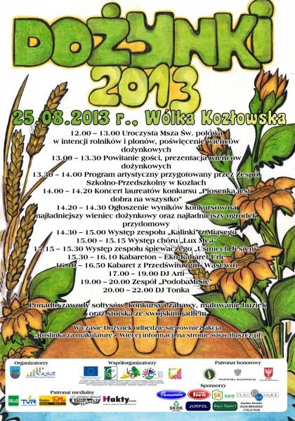 Dożynki 2013 - Wólka Kozłowska