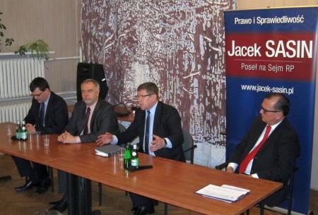 Zbigniew Kuźmiuk i Jacek Sasin