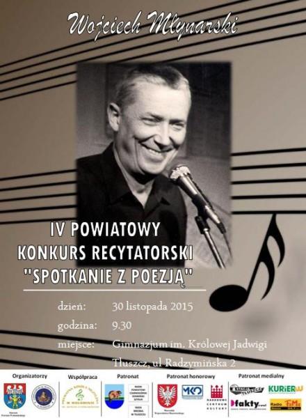 Plakat IV Powiatowy Konkurs Recyatatorski